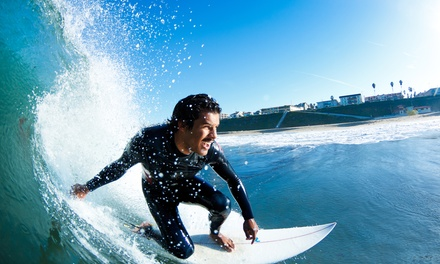 $55 for an Introductory 3-Hour Surf Lesson at Adventure Out ($99 Value)