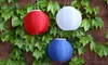 65% Off a Set of Red, White & Blue Lanterns