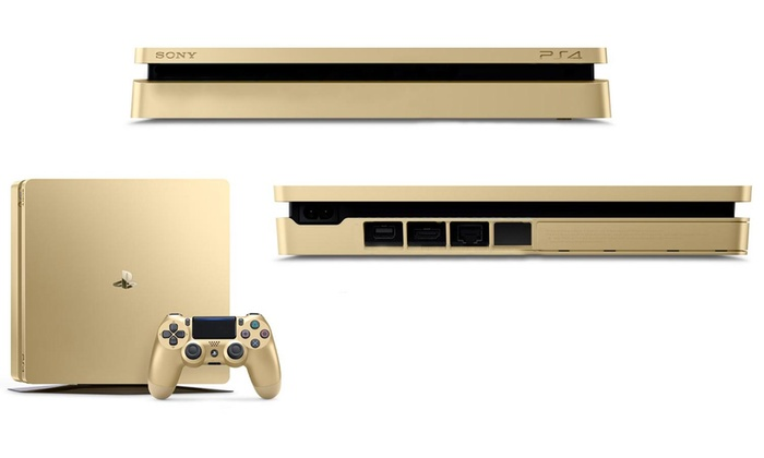 Sony limited edition golden playstation 4 game console livingsocial - Ps3 limited edition console ...