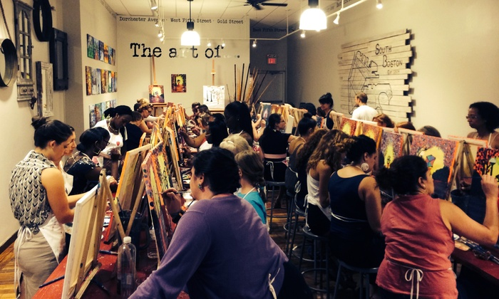 The Urban Art Bar - Boston: Painting with Supplies for One or Two at The Urban Art Bar (Up to 57% Off)
