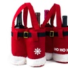 3-Pack of Santa Pants Wine-Bottle Gift Bags