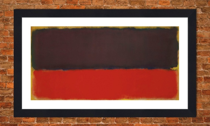 framed mark rothko print framed mark rothko print