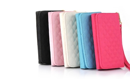 Universal Smartphone Wallet Case With Wrist Strap