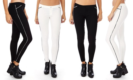 Women's Striped Skinny Tuxedo Pants