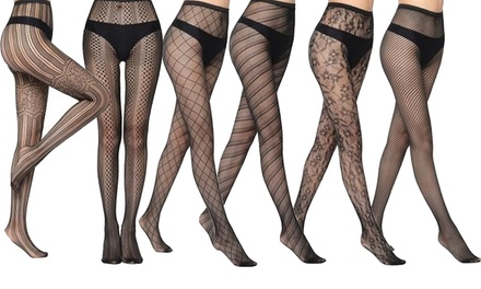 Six-Pack of Fishnet Tights