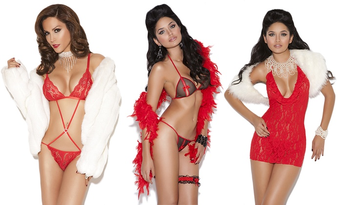 84c36ab08af Elegant Moments Holiday Lingerie in Regular and Plus Sizes
