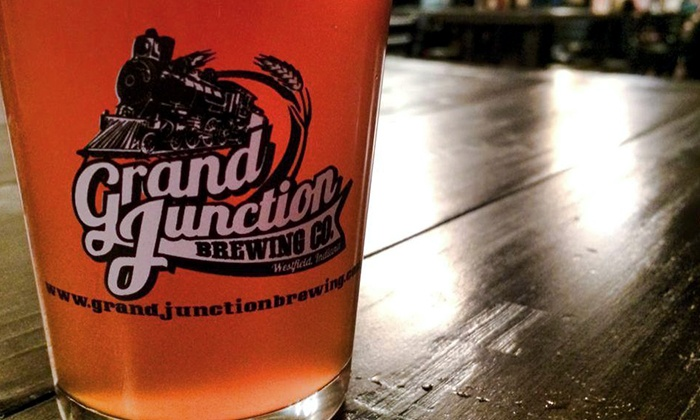 Grand Junction Brewing Co. - Westfield: Beer and Appetizers for Two or Four at Grand Junction Brewing Co. (Up to 43% Off)