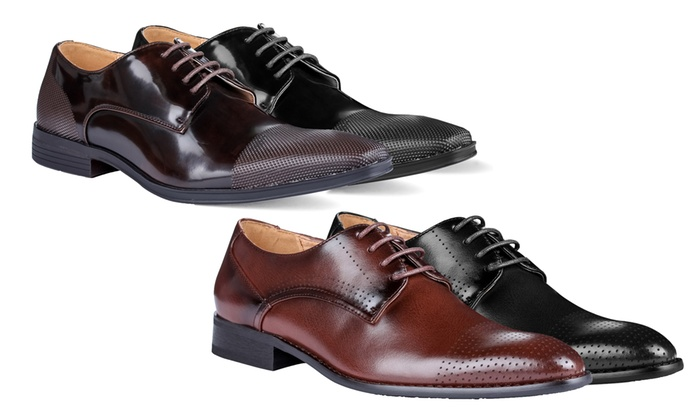 Signature Men's Lace-Up Cap-Toe Dress Shoes