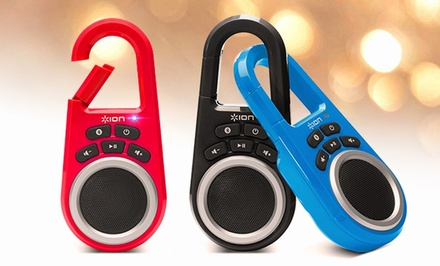 Ion Clipster Portable Bluetooth Speaker. Multiple Colors Available.