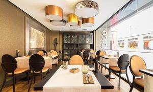 El Gato Canalla-Hotel Indigo: Menú para dos con entrantes, principal, postre y botella de vino o bebida desde 34,95 € en El Gato Canalla-Hotel Indigo
