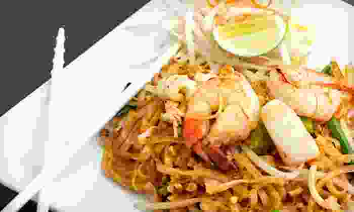 Kow Thai Restaurant - Davis: Thai Food for Lunch or Dinner at Kow Thai Restaurant (Half Off)