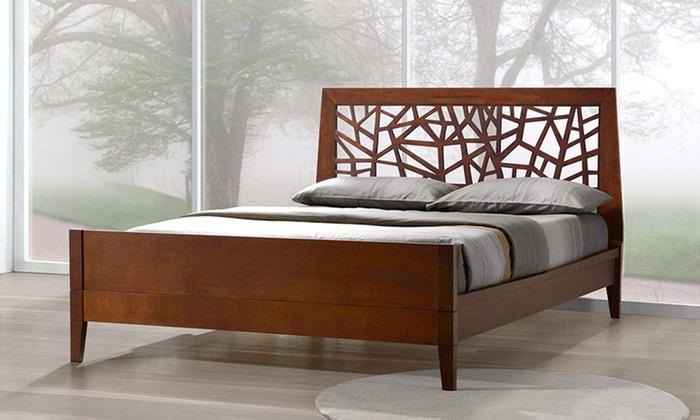 treebranch platform bed in solid wood - Wooden Platform Bed