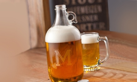 $19.99 for a Personalized Beer Growler from Monogram Online ($50.99 Value)