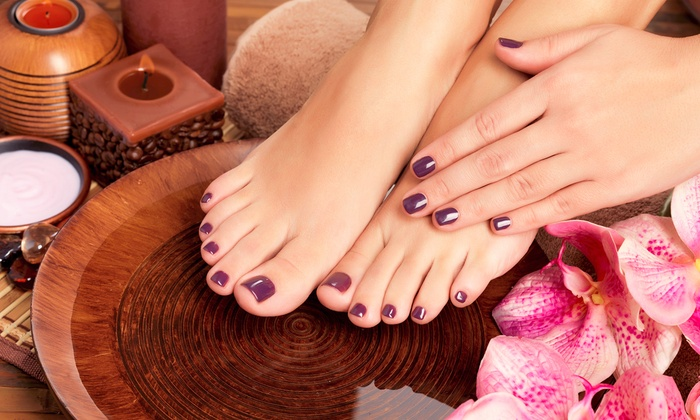 Fuchsia Nails & Spa - Wicker Park: $40 for Two Groupons, Each Redeemable for One Mani-Pedi at Fuchsia Nails & Spa (Up to $90 Value)