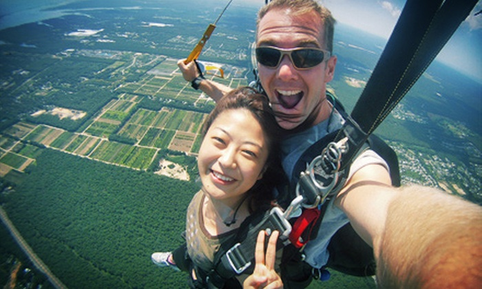 Skydive South Shore - Shirley: $150 for a Tandem-Skydiving Experience for One at Skydive South Shore (Up to $249 Value)