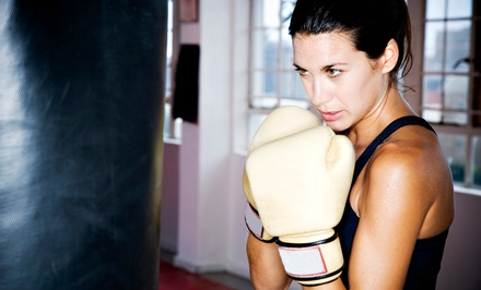 One or Two Months of Unlimited Cardio-Boxing Classes at The Boxing Yard (Up to 70% Off)