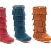 Shoes of Soul Girls' Fringe Boots