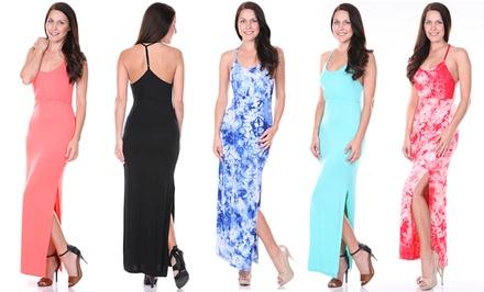 Women's T-Strap Maxi Dress