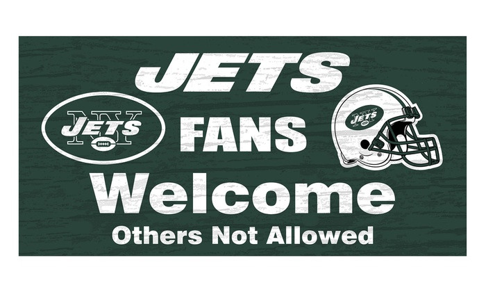 "New York Jets 12"" Fans Welcome Sign: New York Jets 12"" Fans Welcome Sign"