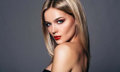 image for Keratin Hair Straightening Treatment with Cut and Blow-Dry at Fusion Salon (60% Off)