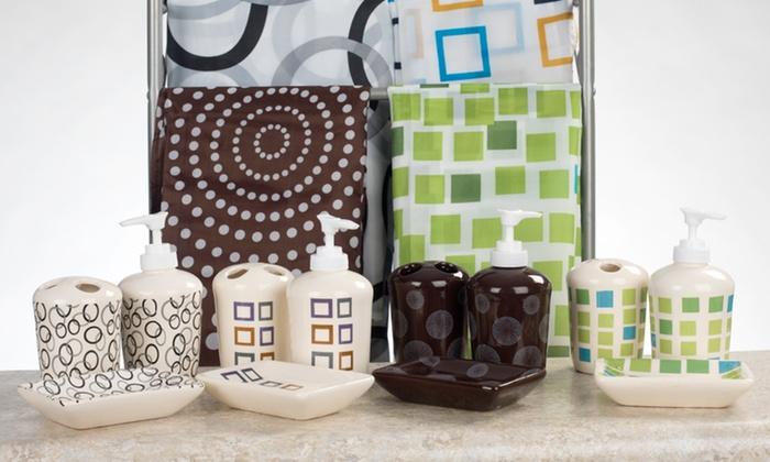 16-Piece Ceramic Bath Sets: $12.99 for a 16-Piece Ceramic Bath Set ($33.79 List Price). 18 Styles Available. Free Returns.
