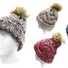 Muliti-Color Knit Winter Beanie with Puff