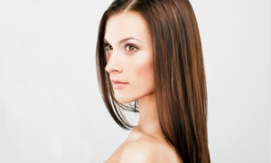 Cherry Blossom Salon: Cut with Blow-Dry and Conditioner or Deep Conditioning, or Men's Cut at Cherry Blossom Salon (Up to 63% Off)