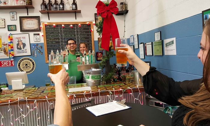 Church Street Brewing Company - North Itasca: $26 for a Brew Package for 2 with Pints, Glasses, & Growler at Church Street Brewing Company ($41 Value)