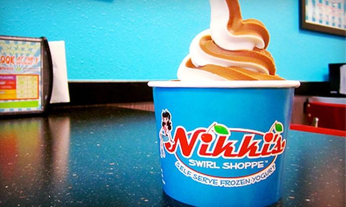 Nikki's Swirl Shoppe - Multiple Locations: Frozen Yogurt at Nikki's Swirl Shoppe (Half Off). Two Options Available.