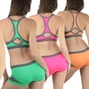 Padded Keyhole Colorblock Bras (5-Pack)