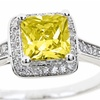 2.50 CTTW Princess Cut Birthstone Colored Cubic Zirconia Rings