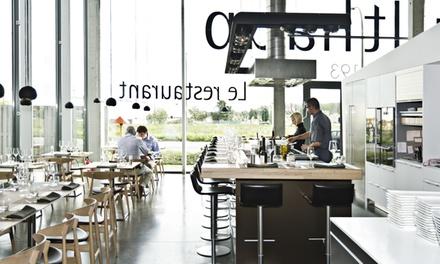 Menu découverte en 5 services pour 2 personnes dès 99 € au restaurant Bulthaup à Gosselies