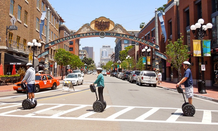 San Diego Segway Tours by Wheel Fun Rentals - Core-Columbia: Downtown Gaslamp Waterfront or Balboa Park Segway Tour from San Diego Segway Tours by Wheel Fun Rentals (Up to 51%Off)