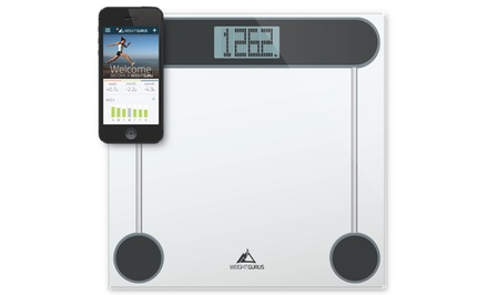Weight Gurus Smartphone-Connected Digital Bathroom Scale