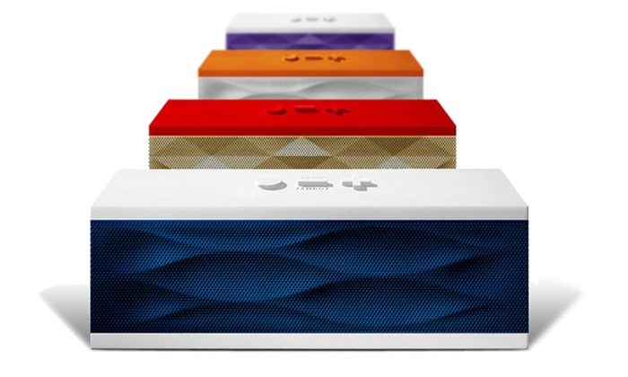 Jawbone JAMBOX Wireless Bluetooth Speaker With Mic: Jawbone JAMBOX Wireless Bluetooth Speaker With Mic. Multiple Colors Available. Free Returns.