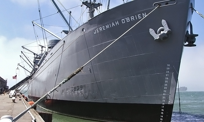 Jeremiah O'Brien Liberty Ship - Fisherman's Wharf: Visit for Two, Four, or Six to the Jeremiah O'Brien Liberty Ship (Up to 60% Off)