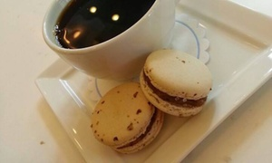 Sno-Biggie:  Two French Macarons and One Medium Cup of Coffee at Sno-Biggie (50% Off)