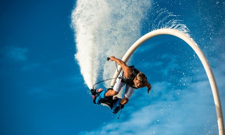 $69 for a Flyboard, Jetovator, or Hoverboard Flight with Video at GoFly Water Aviation ($129 Value)