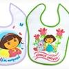 2-Pack of Dora the Explorer Velcro Bibs