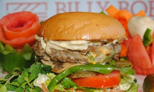 Billy Bob Restaurant LLC: Regular Burger, Sandwich or Hot Dog With Drink For Two from AED 29 at Billy Bob Restaurant (Up to 55% Off)