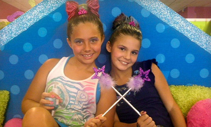 Hollywood Princess - Modesto: $12 for Choice of Up-do, Glitzy Nails, Glitter Tattoo, and Make-Your-Own Lotion or Lip Gloss at Hollywood Princess ($24.99 Value)