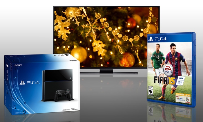 """Groupon Chicago: Enter to Win a Samsung 40"""" LED Smart TV, a PlayStation 4, and FIFA 15"""
