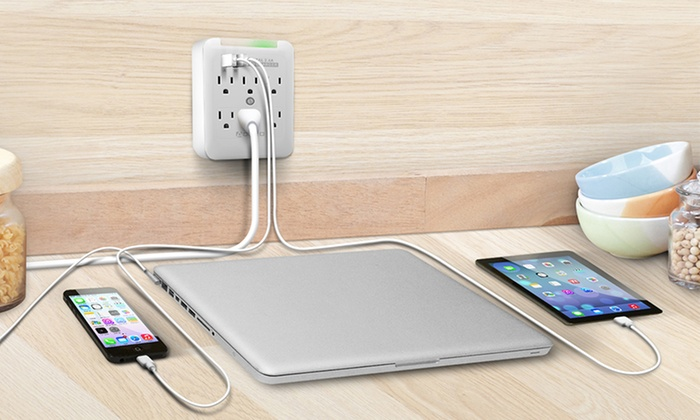 Aduro 3- or 6-Outlet Surge Protector and USB Multi-Charging Station: Aduro 3- or 6-Outlet Surge Protector and Dual-USB Multi-Charging Station from $12.99–$14.99
