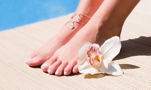 Chevron Beauty Bar: Charcoal Foot Detox and Pedicure for One ($59) or Two People ($99) at Chevron Beauty Bar (Up to $240 Value)