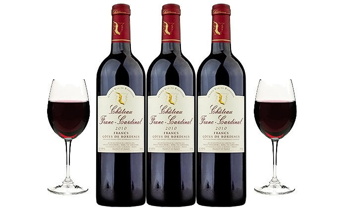 Splash Wines: Three Bottles of 2010 Chateau Franc-Cardinal with Shipping Included from Splash Wines (63% Off)
