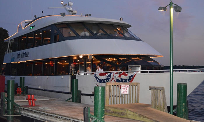Queens Landing - Lady of the Lake - Queens Landing - Lady of the Lake: Starlight Party Cruise with Hors d'oeuvres for One from Queens Landing (37% Off). Three Dates Available.