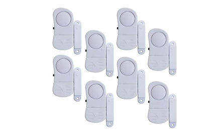 Stalwart Window Mini Wireless Security System Alarm 8-Piece Set