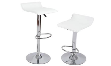 Contemporary Adjustable Barstool Set (2-Piece)
