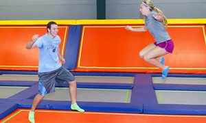 Fly World Trampoline Park: Two One-Hour Jump Passes at Fly World Trampoline Park (Up to 50% Off). Two Options Available.