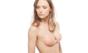 Freshlook Strapless Backless Adhesive 100% Silicone Bra 2-pack